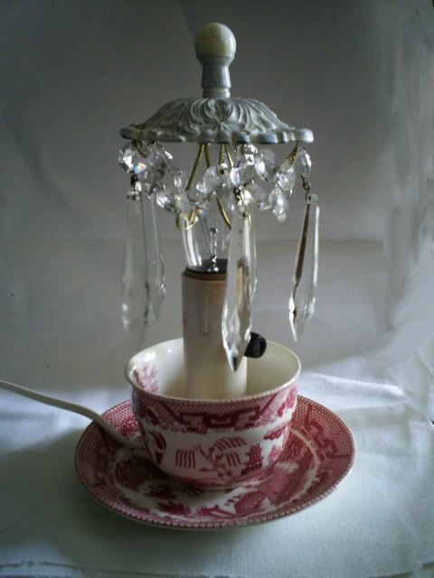 Olivia's Romantic Home: Pink Saturday Feature ~Teacup Chandelier~!
