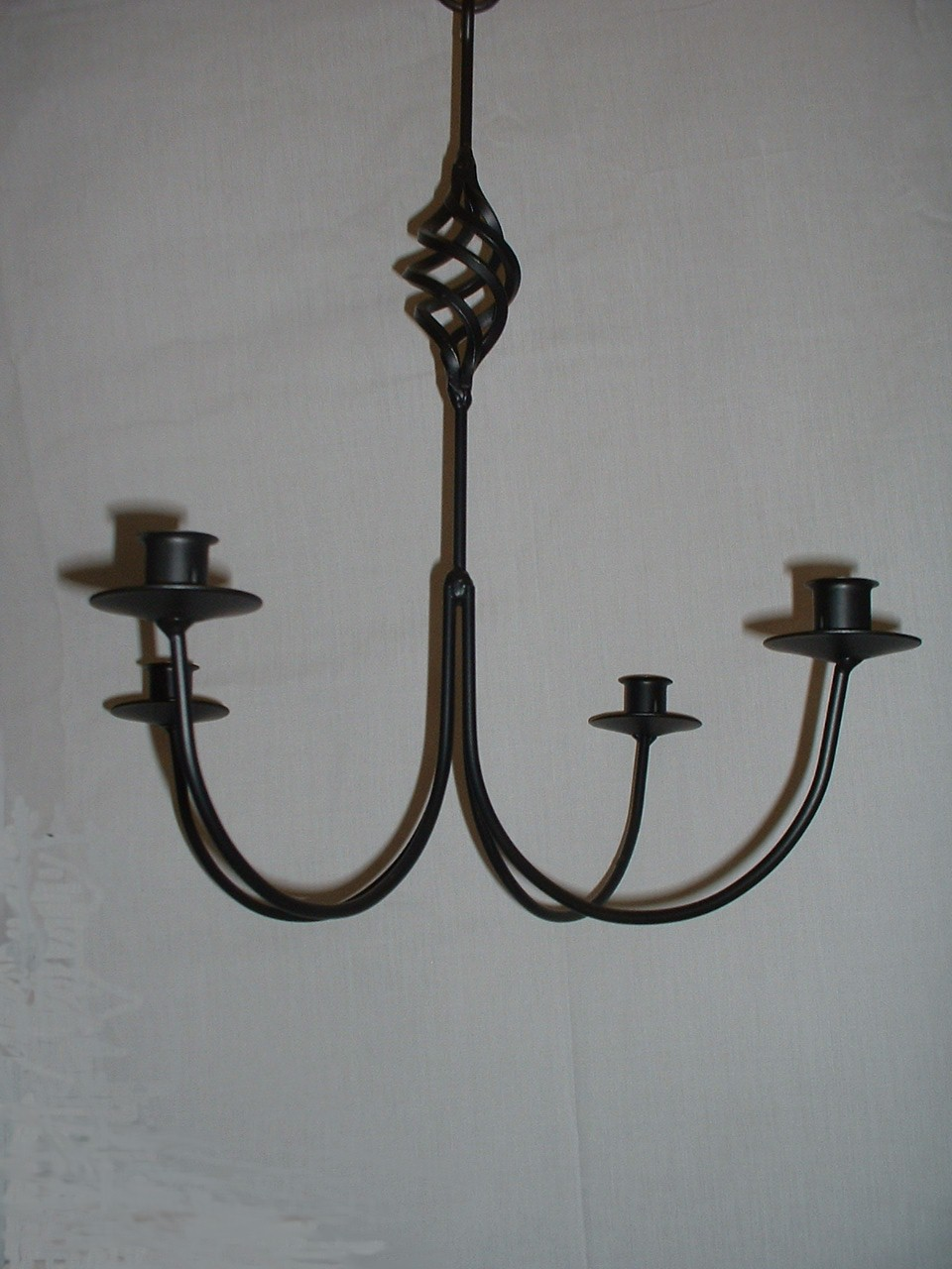 Black Wrought Iron 6 Arm Votive Candle Chandelier USA items in