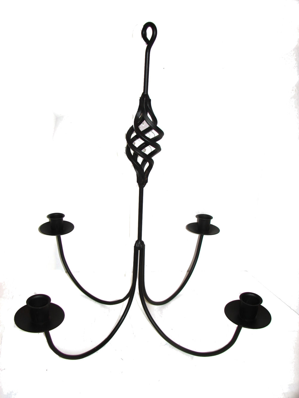 Wrought iron chandeliers and hanging candle holders candoliers the twisted birdcage decoration adds even more charm to this classic design this is solid iron not wire arubaitofo Choice Image