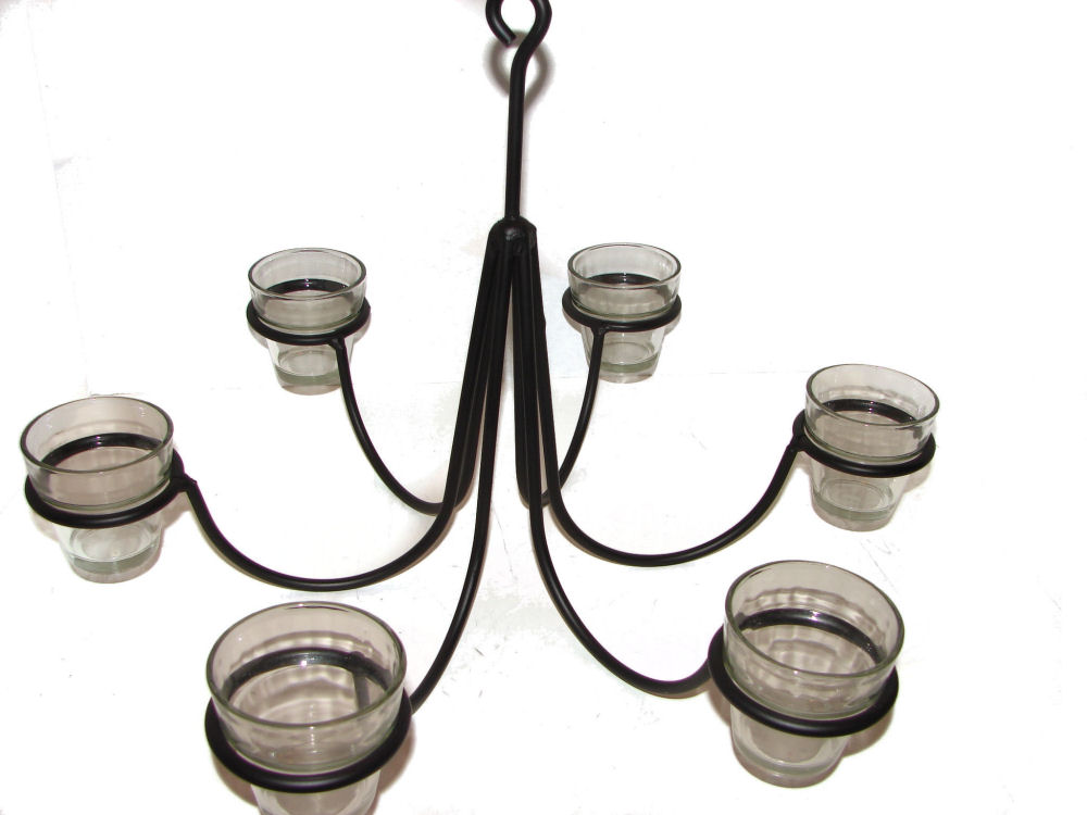 Wrought iron chandeliers and hanging candle holders Hanging candle chandelier non electric
