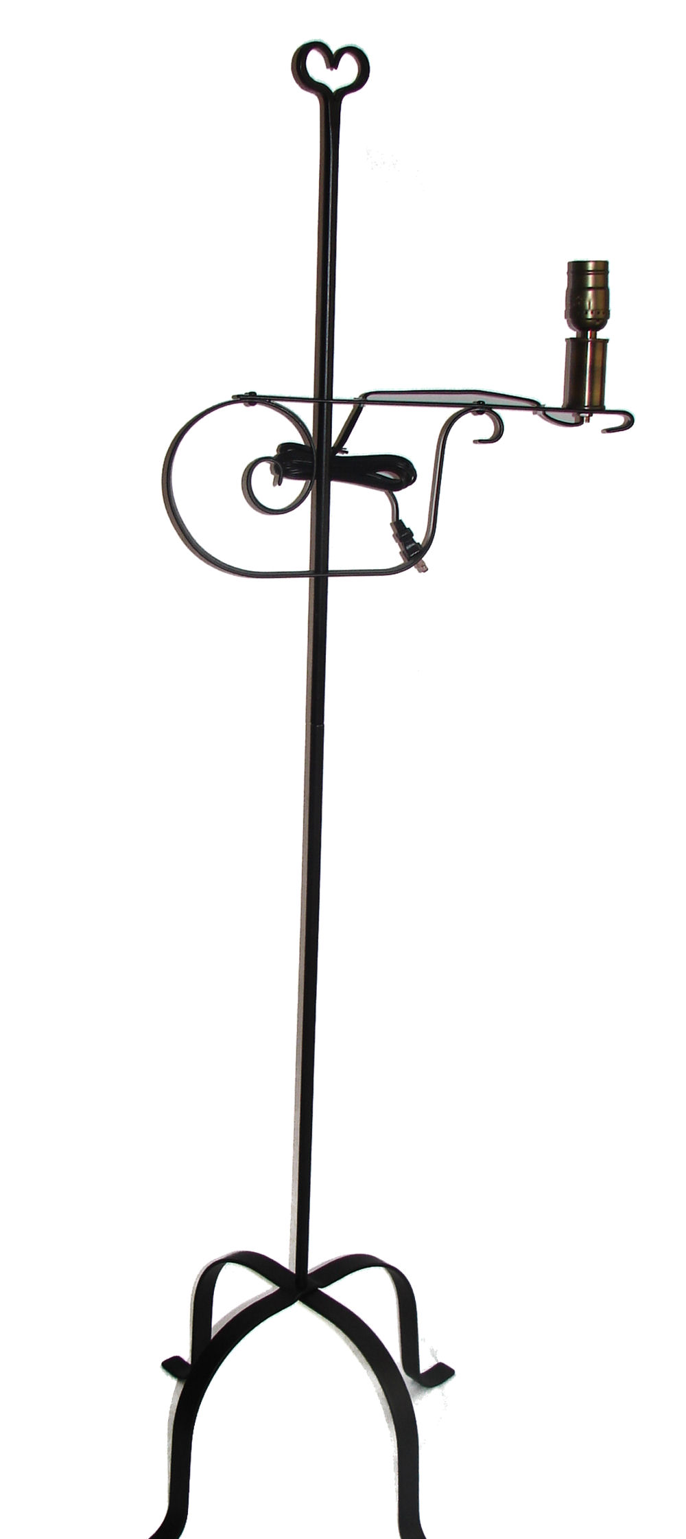 Wrought Iron Floor Lamp   Adjustable