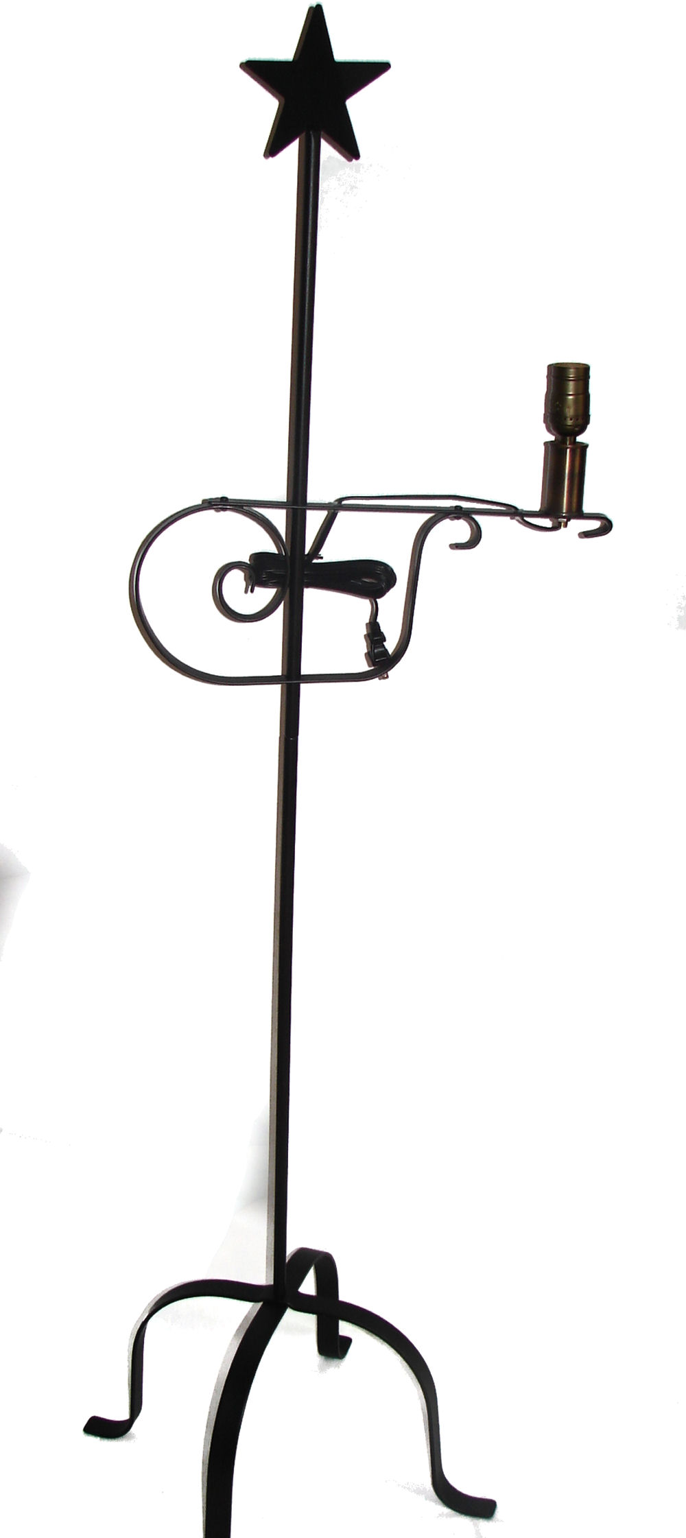 wrought iron floor lamp Star Top - adjustable