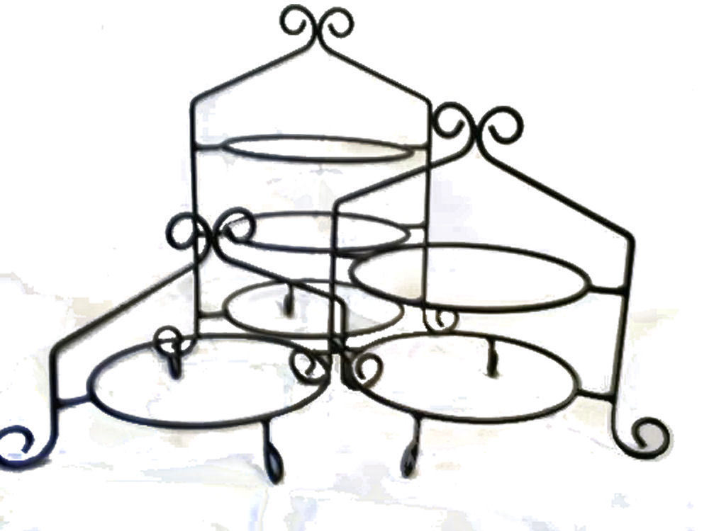 Wrought Iron Cupcake Rack / Pie Stand Set  sc 1 st  Eagle Emporium & Wrought Iron Cupcake Display Racks and Pie Stands - Great for ...