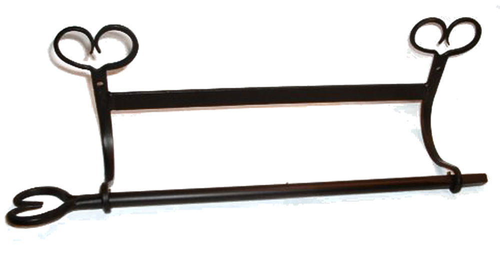 Wrought Iron Towel Bars Toilet Paper Holders Amish
